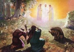 Moisés e Elias no monte da transfiguração