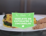 Omelete vegano de cogumelos e espinafre - sem glúten!